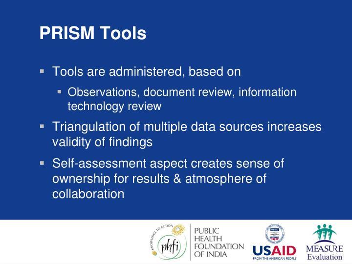 PRISM Tools