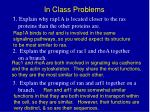 in class problems