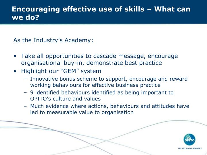 As the Industry's Academy: