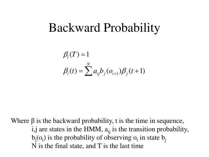 Backward Probability