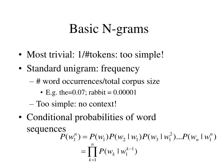 Basic N-grams