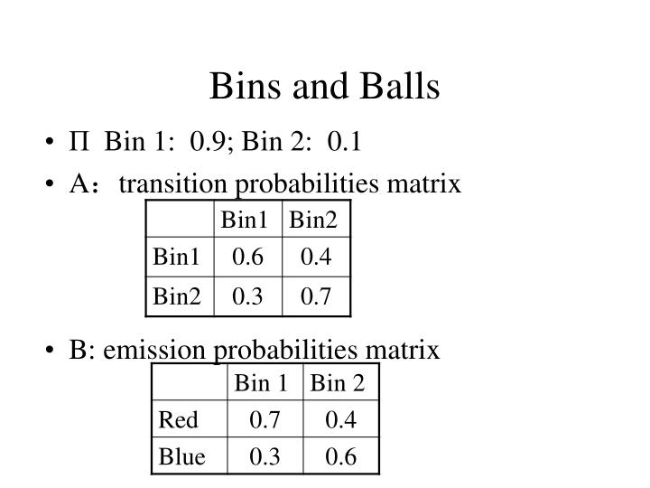 Bins and Balls