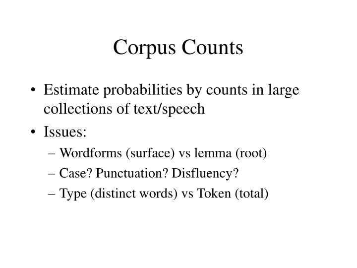 Corpus Counts