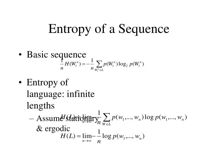 Entropy of a Sequence