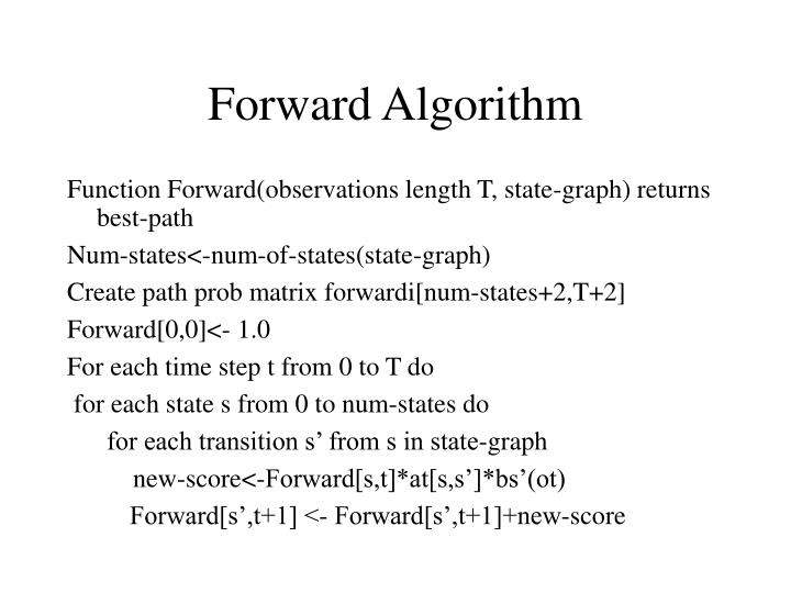 Forward Algorithm