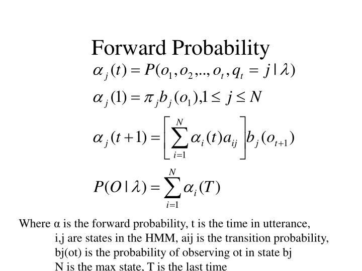 Forward Probability