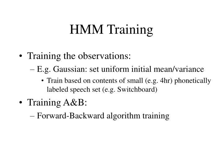 HMM Training
