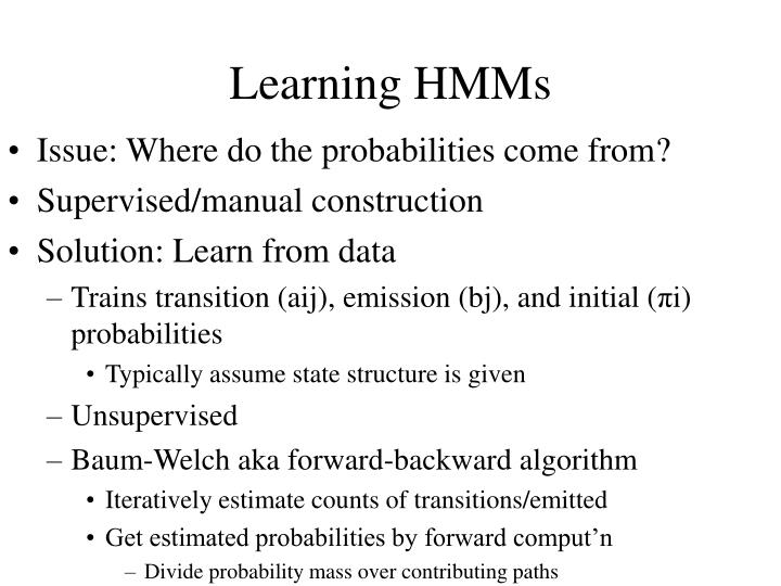 Learning HMMs