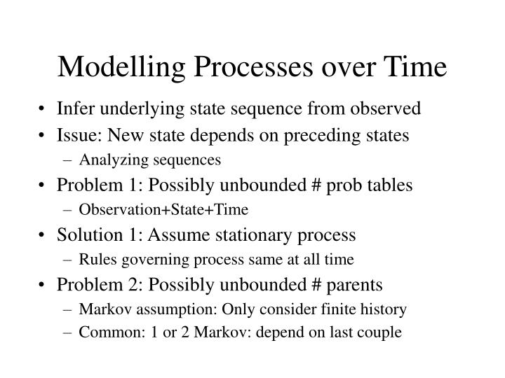 Modelling Processes over Time