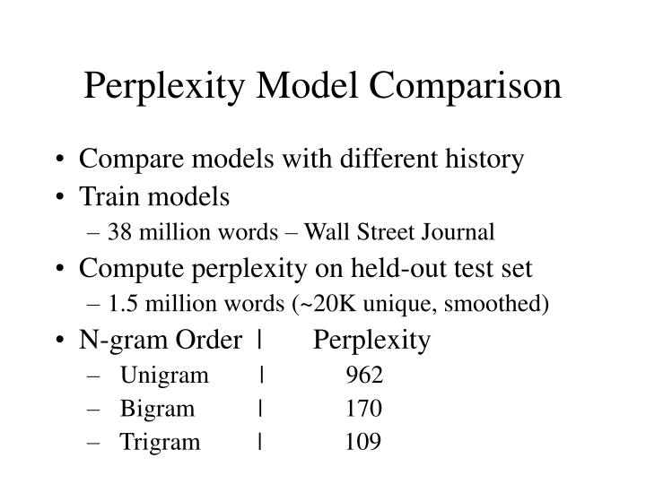 Perplexity Model Comparison