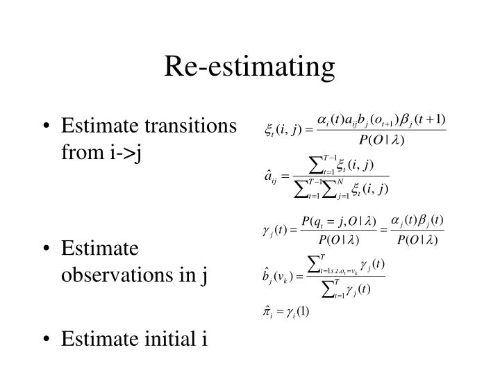 Re-estimating
