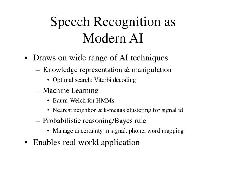 Speech Recognition as