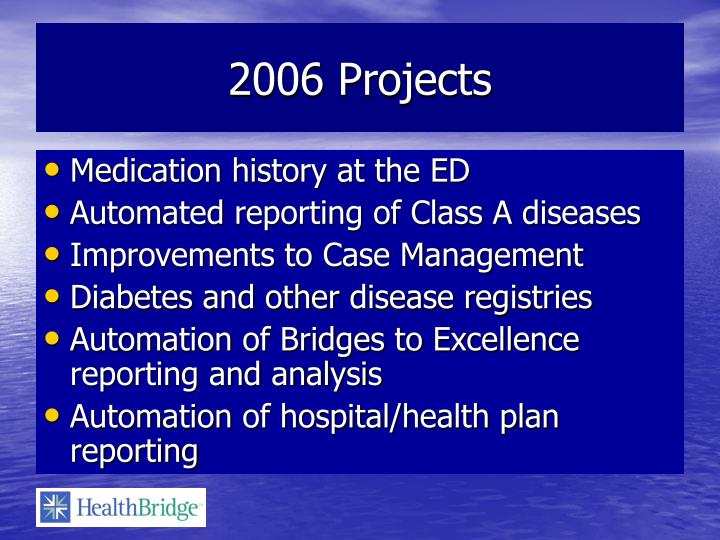 2006 Projects