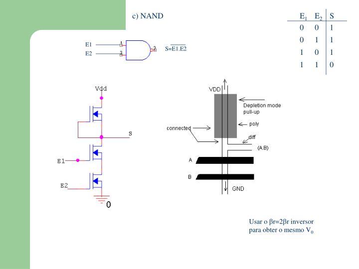 c) NAND