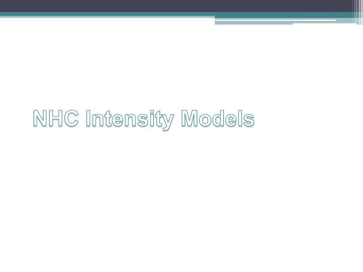 NHC Intensity Models