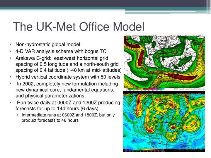 The UK-Met Office Model