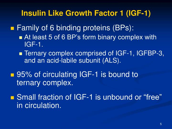 Insulin Like Growth Factor 1 (IGF-1)