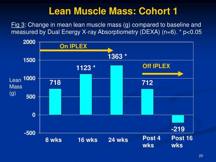 Lean Muscle Mass: Cohort 1