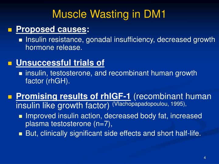 Muscle Wasting in DM1