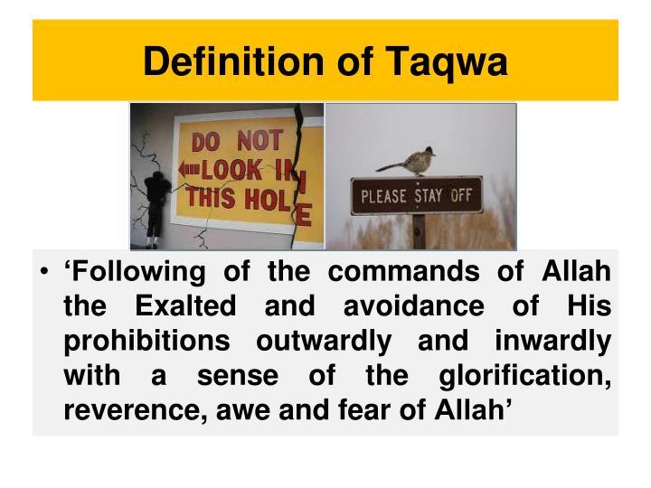 Definition of Taqwa
