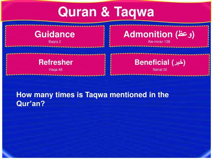 Quran & Taqwa