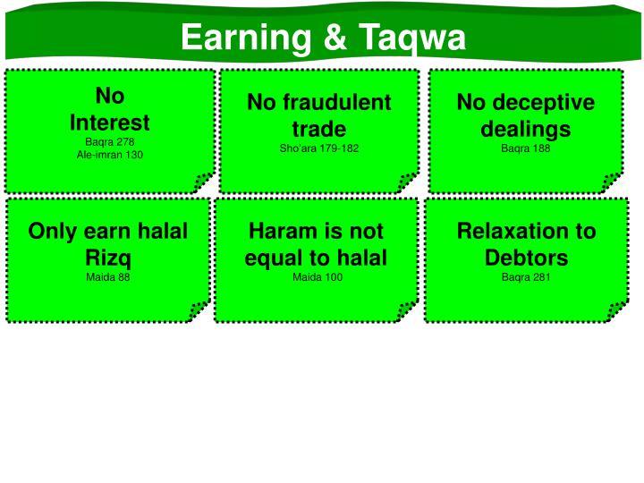 Earning & Taqwa