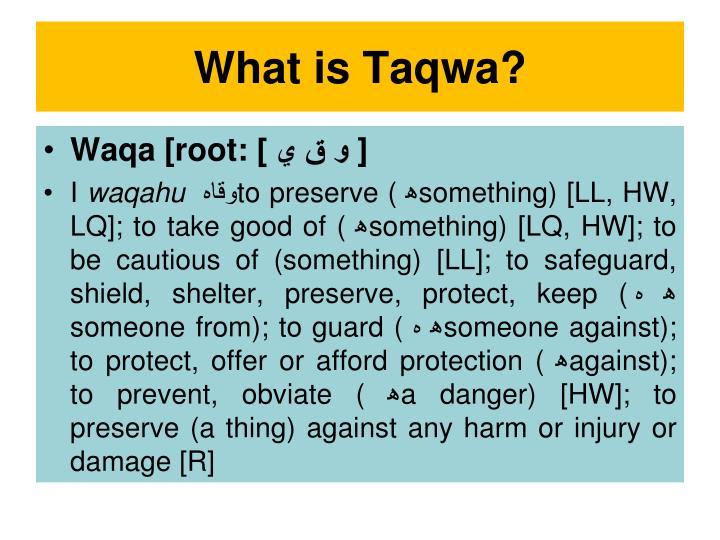 What is Taqwa?