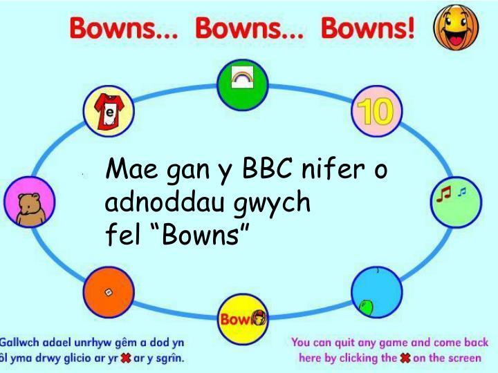 Mae gan y BBC nifer o