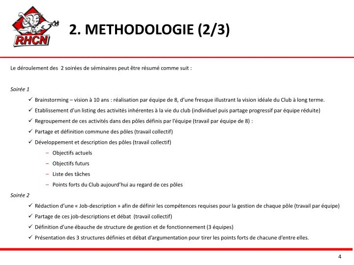 2. METHODOLOGIE (2/3)