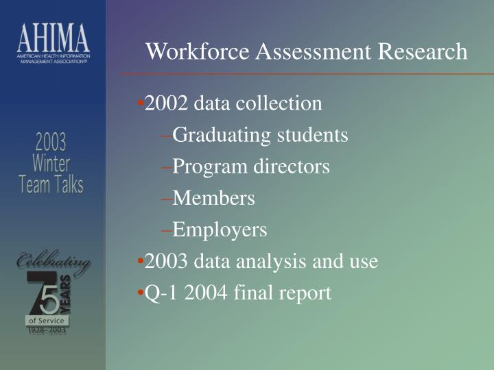 Workforce Assessment Research