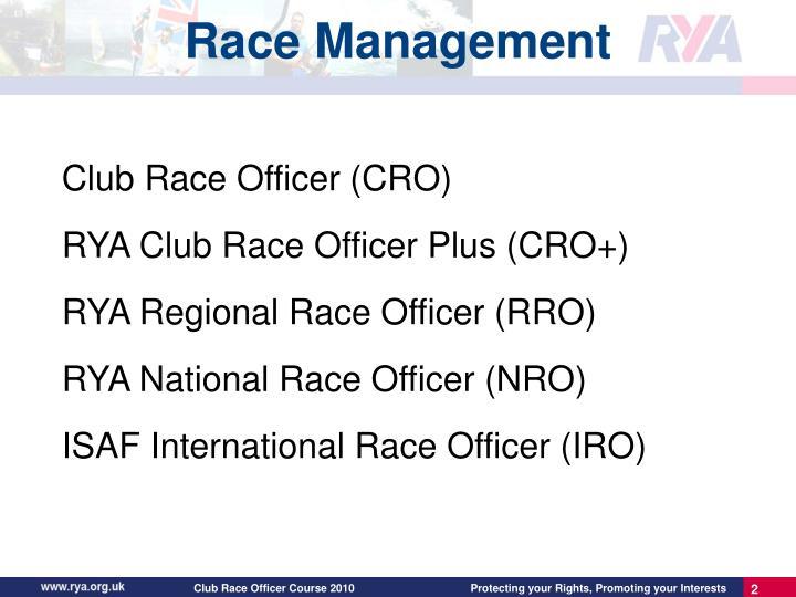 Club Race Officer (CRO)