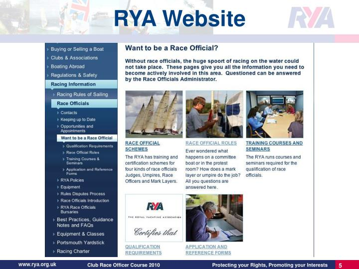 RYA Website