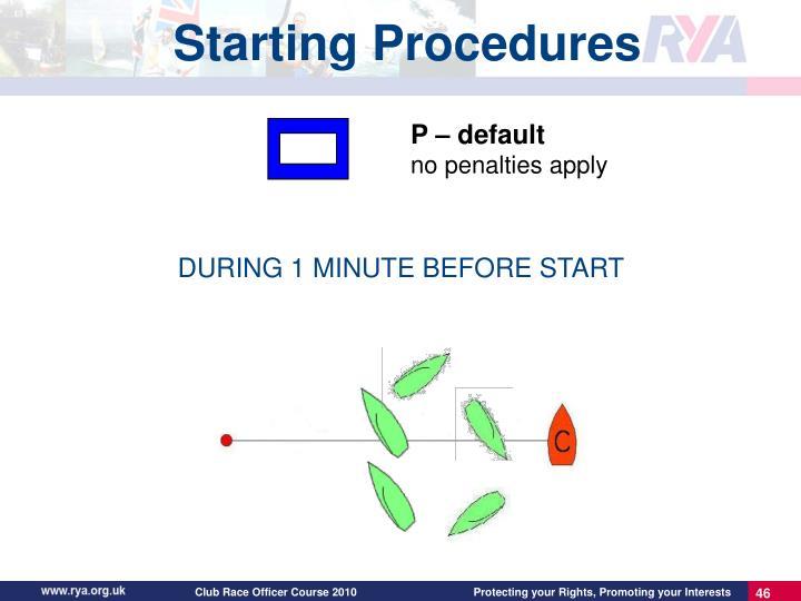 P – default