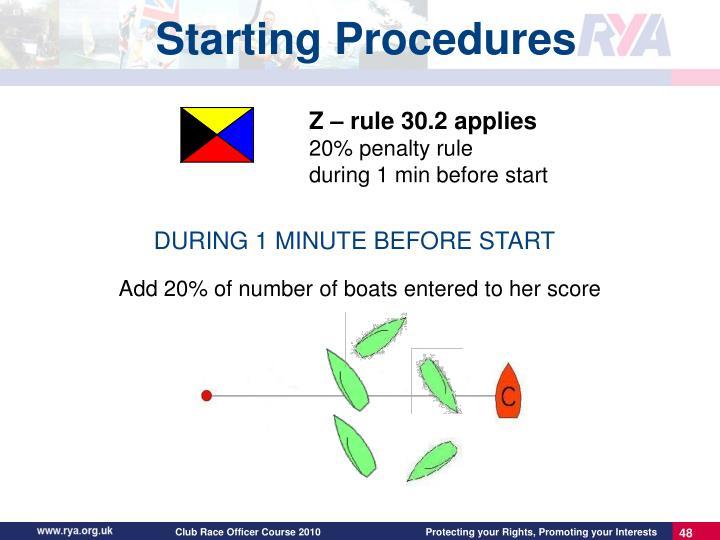 Z – rule 30.2 applies