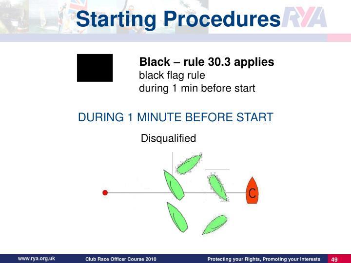 Starting Procedures