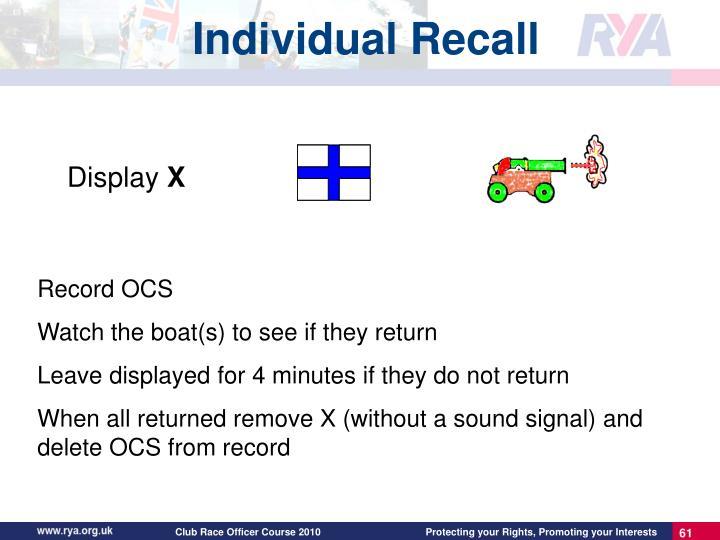 Individual Recall