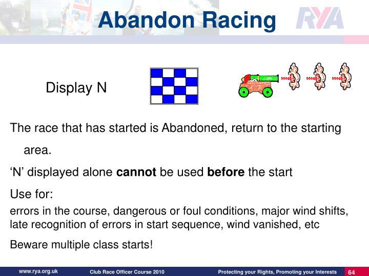 Abandon Racing