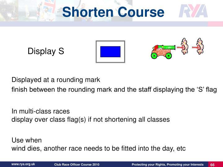 Shorten Course