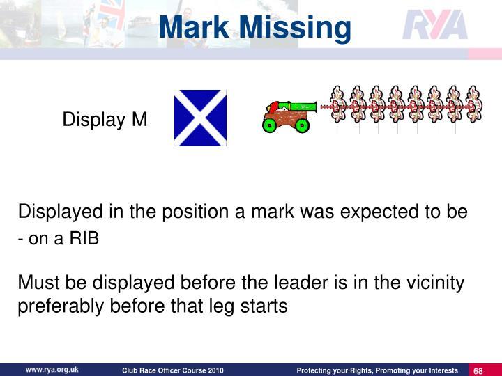 Mark Missing