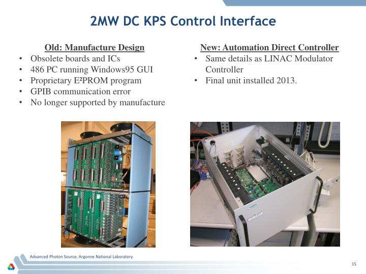 2MW DC KPS Control Interface