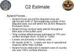 c2 estimate