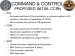 command control proposed initial ccirs