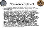 commander s intent