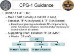 cpg 1 guidance