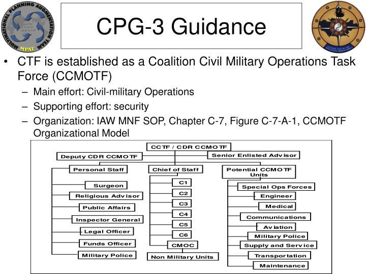 CPG-3 Guidance
