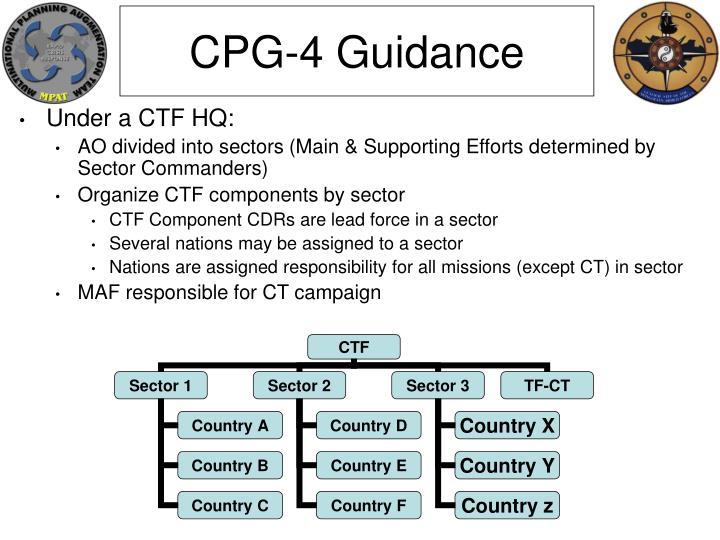 CPG-4 Guidance