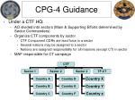 cpg 4 guidance
