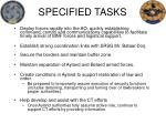 specified tasks