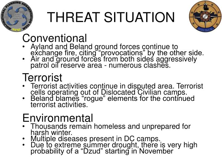 THREAT SITUATION