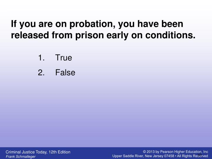 If you are on probation, you have been